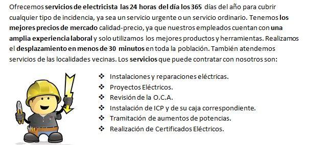 Electricistas Santiponce 24 horas